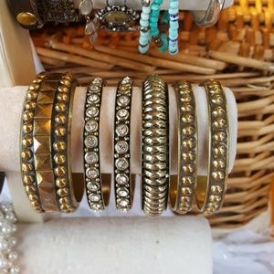 🌹 cara couture brass braclets